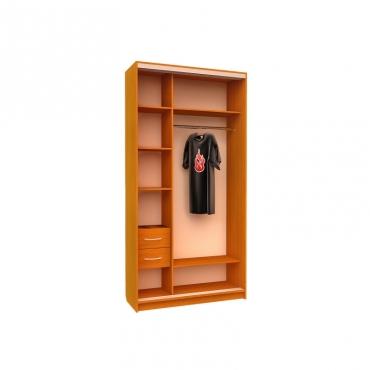Шкаф-купе Ника №11 (двери фотопечать вставки ДСП)