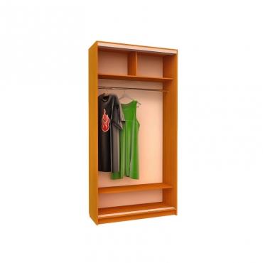 Шкаф-купе Ника 14 (двери зеркало вставки пескоструй)