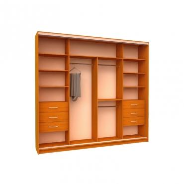 Шкаф-купе Ника 15 (2 двери зеркало 2 двери пескоструй)