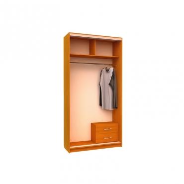 Шкаф-купе Ника 8 (двери зеркало вставки пескоструй)