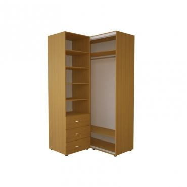 Угловой шкаф-купе Эконом №34(дверь ДСП)
