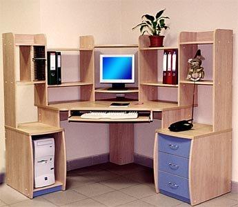 компьютерный стол молочный дуб
